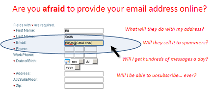 Afraid to provide your email address online?